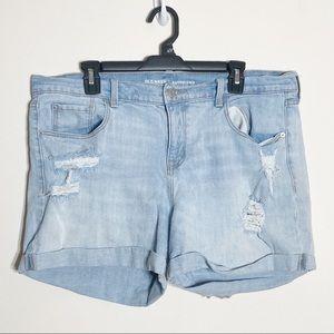 Old Navy Light Wash Distressed Denim Shorts